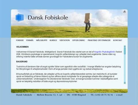 Hjemmeside designet til Dansk Fobiskole