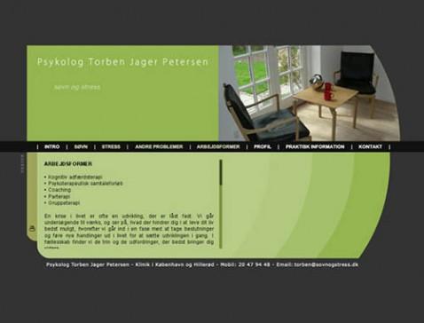 Hjemmeside designet til psykolog Torben Jager Pedersen