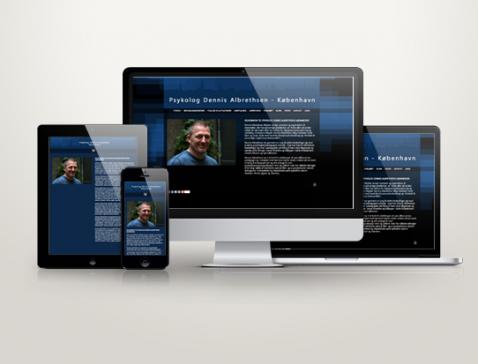 Hjemmeside designet til psykolog Dennis Albrethsen, København.