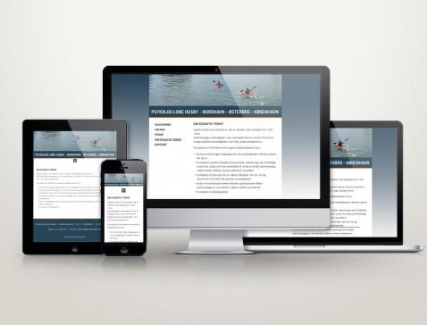 Hjemmeside designet til psykolog Lone Husby, Nordhavn, København