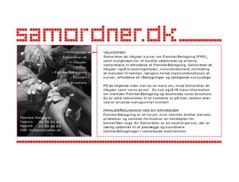 Hjemmeside designet til samordner.dk - familierådslagning