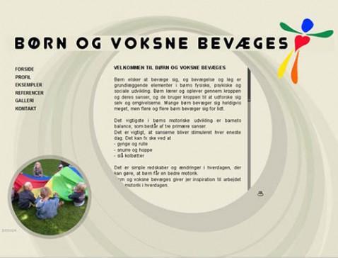 Hjemmeside designet til bevægelsespædagog Fie Illum