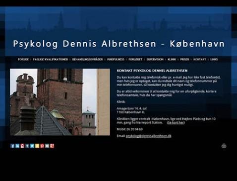 Hjemmeside designet til psykolog Dennis Albrethsen, København