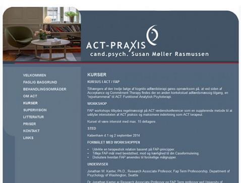 Hjemmeside designet til psykolog Susan Møller Rasmussen, Odense/København