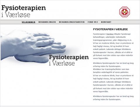 Hjemmeside designet til Carlander Fysioterapi, Værløse.