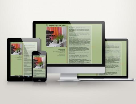 Hjemmeside designet til psykolog Nina Dam, Frederiksberg, København