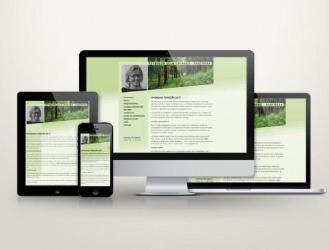 Hjemmeside designet til psykolog Ulla Søgaard, Aabenraa