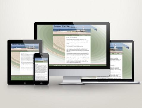 Hjemmeside designet til psykolog Ellen Garne, Hellerup