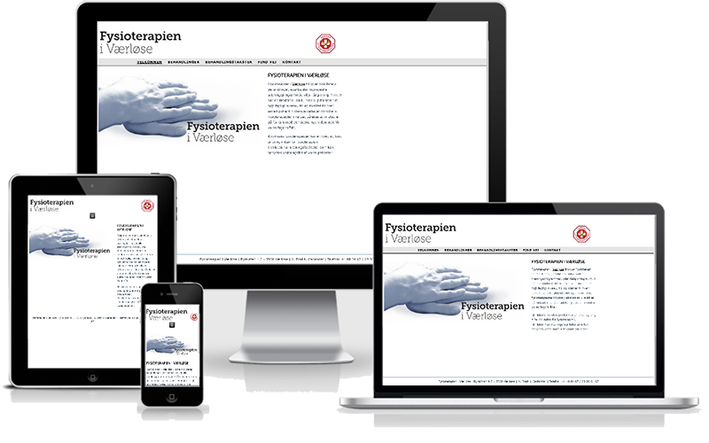 Hjemmeside designet til fysionterapeut Carlander Fysioterfapi i Værløse