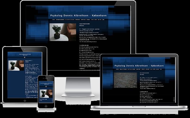 Hjemmeside designet til psykolog Dennis  Albrethsen - København