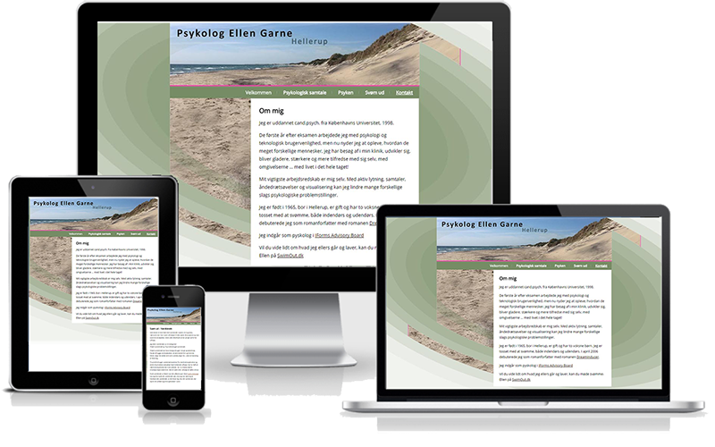 Hjemmeside designet til psykolog i Hellerup