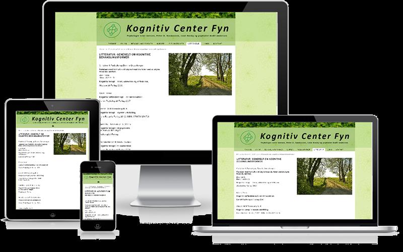 Hjemmeside designet til psykologene Kognitiv Center Fyn
