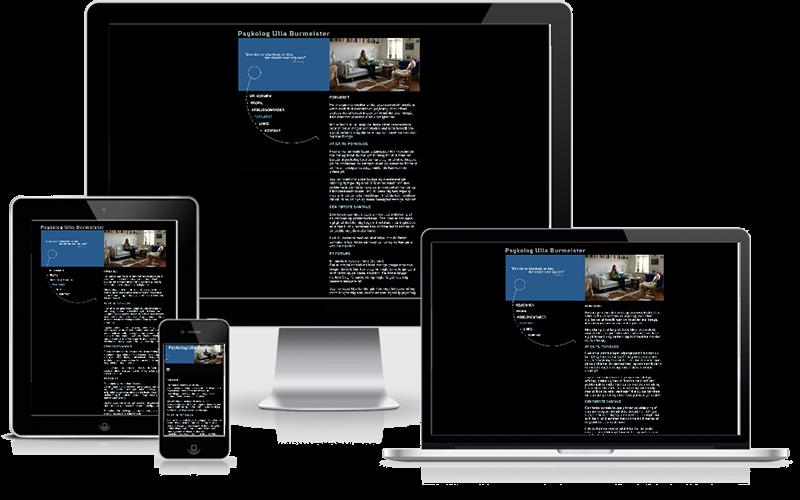 Hjemmeside designet til psykolog Ulla Burmeister Østerbro København